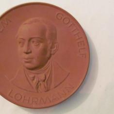 "MMM - Medalie Germania ""Wilhelm Gotthelf Lohrmann"" ceramica uriasa"