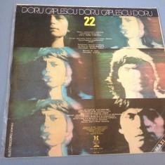 DORU CAPLESCU - 22 - ELECTRECORD REC /DISC VINIL - Muzica Rock