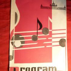 Program- Concert Spectacol - Cantec cu dedicatie tiparita -Norocel Dimitriu '50 - Afis