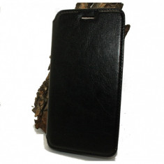 Husa Asus Zenfone 5 piele ecologica neagra - Husa Telefon Asus, Negru