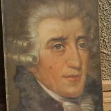 Litografie veche muzician