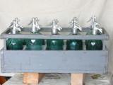 10 sticle sifon modelul vechi in stare perfect + lada originala ! Raritate