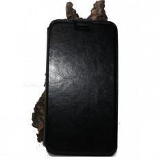 Husa Asus Zenfone 6 piele ecologica neagra, Negru