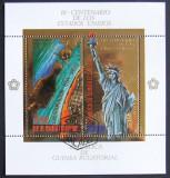GUINEEA EQ. 1975 - COLABORARE USA-URSS, 1 S/S OBLIT CU FOLIE AUR - GEQS 006
