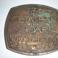 Cetatean de onoare al orasului Bucuresti