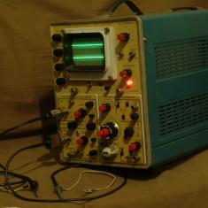 Osciloscop industrial modular EMG 1555 tr-4653 2x100mhz, baza timp dubla cu delay