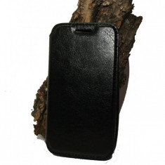 Husa Asus Zenfone 4 piele ecologica neagra - Husa Telefon Asus, Negru