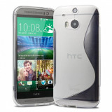 Husa silicon transparenta s line HTC ONE 2 M8 + folie protectie ecran - Husa Telefon