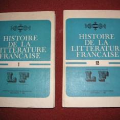 Histoire de la litterature francaise - Angela Ion ( 2 vol. ) - Studiu literar