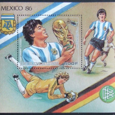 R.GUINEEA 1986 - FOTBAL  1 S/S, NEOBLITERATA - E2066, Sport
