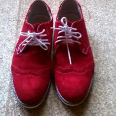 Pantofi, piele intoarsa Marca:Marelbo, culoare rosie