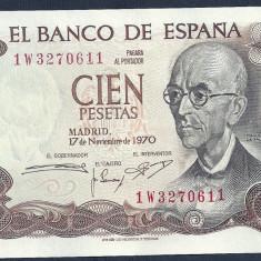 SPANIA 100 PESETAS 1970 [1] XF+++, P-152a - bancnota europa