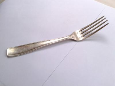 Furculita vintage plata cu argint - 60 de microni, cu marca foto