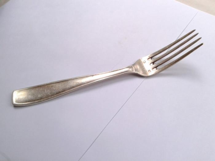 Furculita vintage plata cu argint - 60 de microni, cu marca