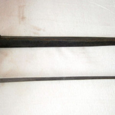baioneta veche datata 1858,  pt muscheta Brown Bess, Anglia, colectie, panoplie