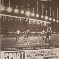 Revista SPORT nr. 10/1969 Universitatea Craiova