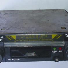 Radio casetofon auto vechi Tehnoton nu Electronica Rally anii 80 - CD Player MP3 auto