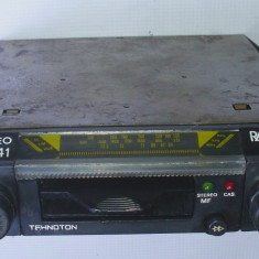 Radio casetofon auto vechi Tehnoton nu Electronica Rally anii 80 - CD Player MP3 auto