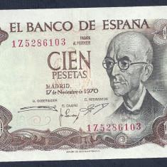 SPANIA 100 PESETAS 1970 [2] XF+, P-152a - bancnota europa