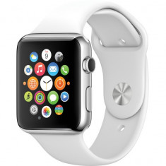 NOU!!! APPLE Watch Sport 42mm Silver curea Sport Alba - Smartwatch