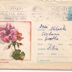 % plic intreg postal-(cod 383/68)-muscata de gradina, An: 1983