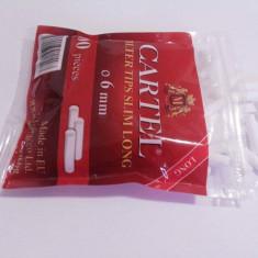 Filtre cartel slim (6 mm) super long  (22 mm) pentru tigari  ! 100 buc.