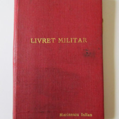 RAR! LIVRET MILITAR 1958 OFITER SECURITATE(M.A.I) R.P.R.
