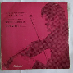 VINIL SINGLE ION VOICU MELODII LAUTARESTI 1963 IN STARE F.BUNA - Muzica Lautareasca electrecord
