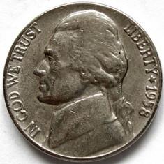 SUA, JEFFERSON, 5 CENTS 1958 D, MONETARIA DENVER - RARA !, America de Nord, Crom