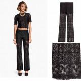 HM Espana, Pantaloni DANTELA Lace Trousers  Model 2015, Marimea 36(S/M)