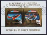 GUINEEA EQ 1973 - N. COPERNIC,1 S/S , OBLIT CU FOLIE AUR - GEQS 052