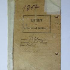 RARITATE! LIVRET DE SERVICIUL MILITAR 1916 FERDINAND I REGIMENTUL 8 CALARASI