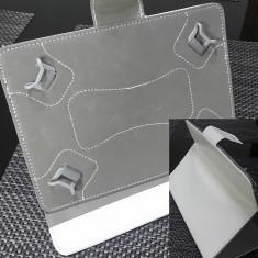 Husa tableta 8 inch model X , Alba, tip mapa, protectie antisoc - COD 92 -
