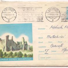 % plic intreg postal-(cod 479/68)-RUINELE CETATII NEAMTULUI, An: 1968
