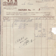 % factura cu antet 1938-Noua Industrie de Cristal si Oglinzi S.A.R. - Pasaport/Document
