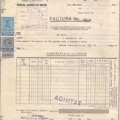 % factura cu antet -UNIREA anul 1937, Documente