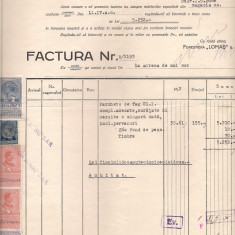 % factura cu antet -FORESTA LOMAS s.a.r. anul 1938 - Pasaport/Document