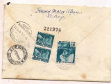 % plic scrisoare-RECOMANDAT-timbru Fondul aviatiei anul  1937