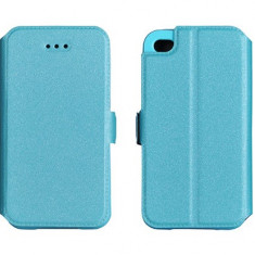 Husa SONY XPERIA Z1 Mini Compact D5503 Flip Case Slim Inchidere Magnetica Blue - Husa Telefon Sony, Albastru, Piele Ecologica, Cu clapeta, Toc