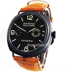 Officine Panerai Marina Militare Mechanical Watch ! Cea Mai Buna Calitate ! - Ceas barbatesc Panerai, Lux - elegant, Mecanic-Manual, Inox, Piele, Analog