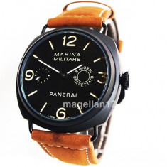 Officine Panerai Marina Militare Mechanical Watch ! Cea Mai Buna Calitate ! - Ceas barbatesc Panerai, Lux - elegant, Mecanic-Manual, Inox, Piele, Analog