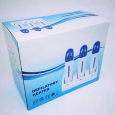 Incalzitor Ceara de Unica Folosinta Triplu cu Baza + rezerva ceara BONUS - Ceara epilare