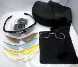 Ochelari de soare pentru sport !  5 seturi de lentile, toc + accesorii  !, Unisex, Protectie UV 100%