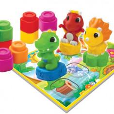 Set Cuburi Moi - Baby Clemmy - Dinozauri Veseli - 17066 - Jucarie pentru patut Clementoni