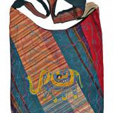 Geantă unicat din bumbac - Geanta Dama, Culoare: Din imagine, Marime: Marime universala, Geanta de umar