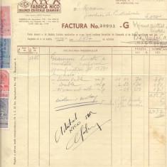 % factura cu antet 1938-Noua Industrie de Cristal si Oglinzi S.A.R., Documente