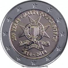 moneda MALTA 2 euro comemorativa 2014 - Politie, UNC