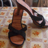 Papuci femei - Papuci dama, Culoare: Negru, Marime: 39