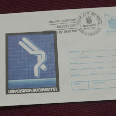 Plic - Universiada Bucuresti 81 - Jocurile mondiale universitare 1981 !!!