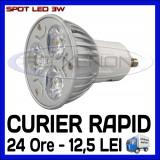 SPOT LED MR16, GU10, E14, E27 - 3W EPISTAR - ECHIVALENT 30W - ALB RECE SAU CALD, Becuri LED, Rece (4100 - 4999 K), ZDM